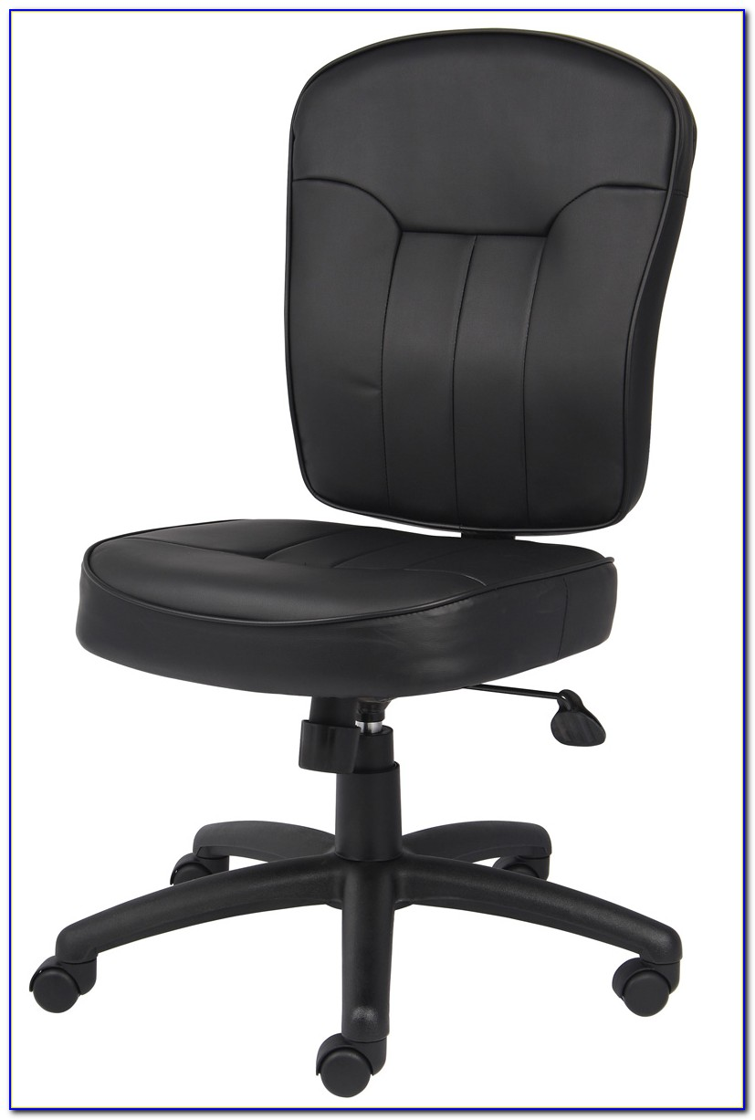 Leather Desk Chair Armless