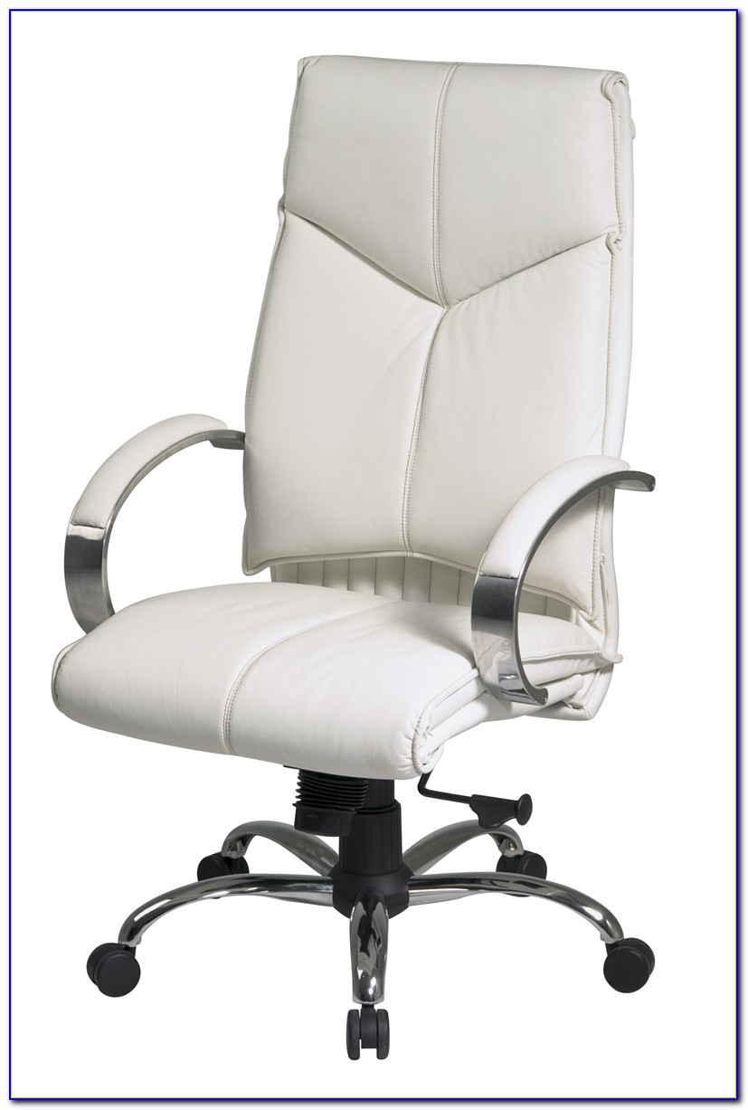 Leather Executive Office Chair White