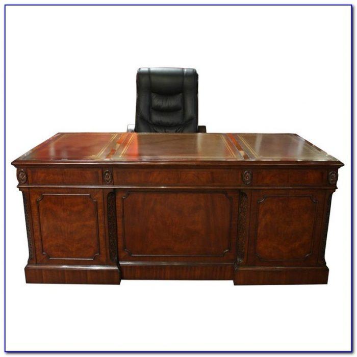 Leather Top Executive Desk