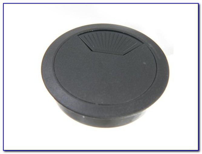 Plastic Computer Desk Grommet Cable Hole Cover Gray