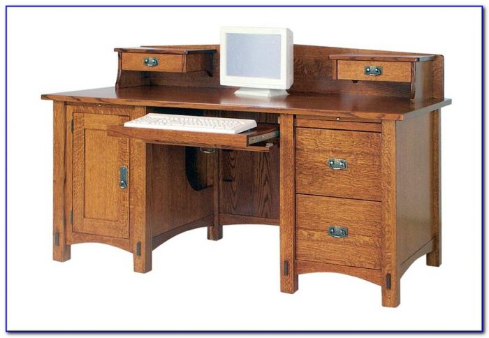 Real Wood Computer Desks With Hutch