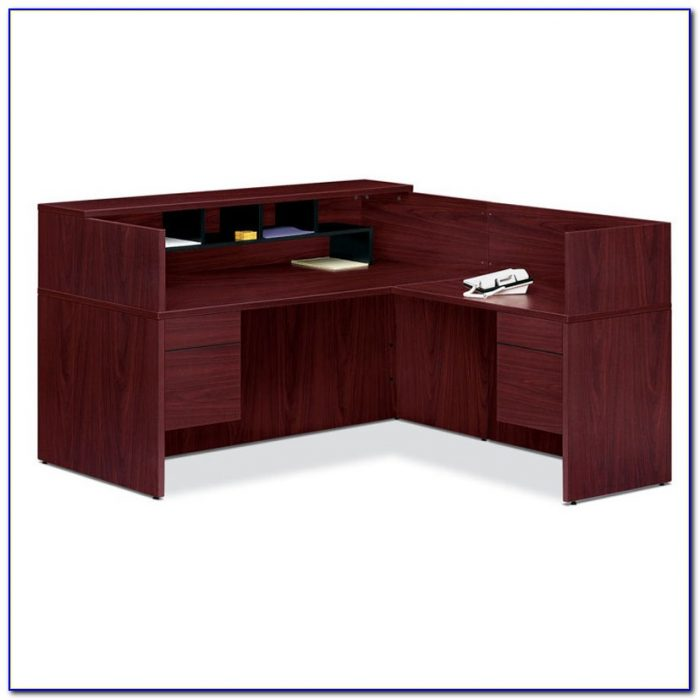 Reception Desk With Transaction Counter