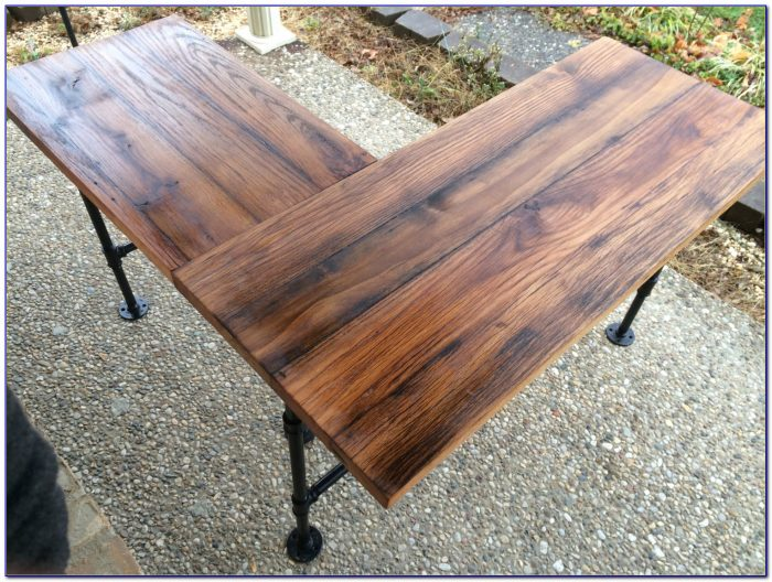 Reclaimed Barn Wood Table Diy Desk Home Design Ideas