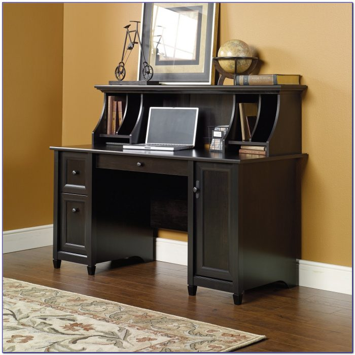 Sauder Harbor View Computer Desk With Hutch Assembly