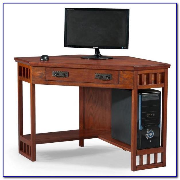 Small Oak Corner Computer Desks