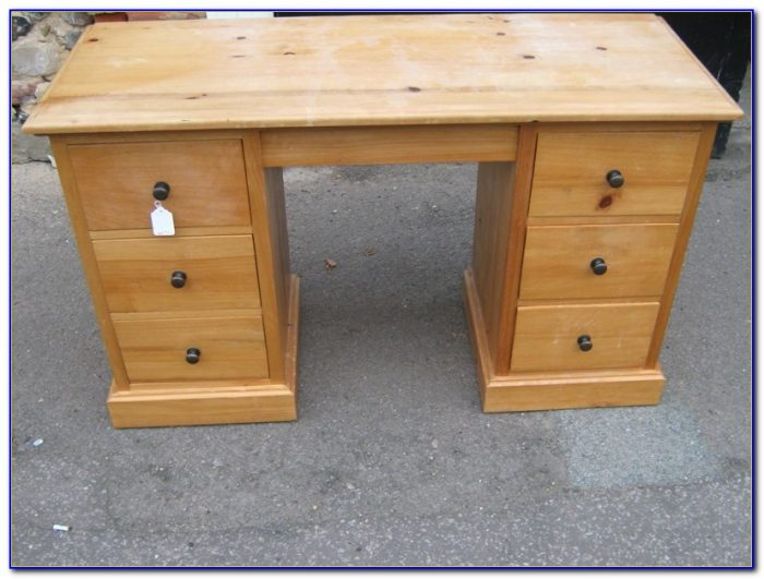 Solid Pine Desk With Drawers Desk Home Design Ideas