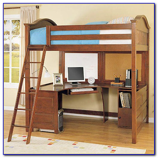 Stompa High Sleeper Bed With Desk And Futon Home