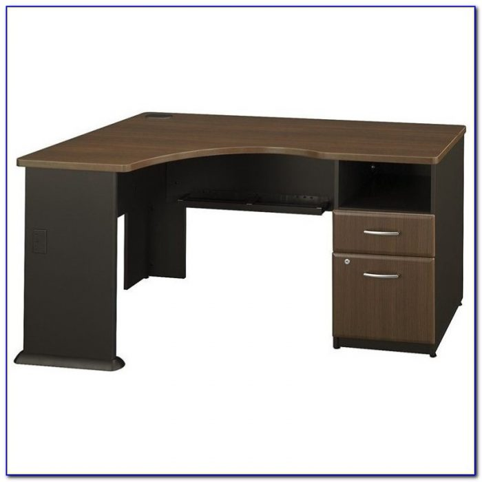 Tall Dark Walnut Corner Computer Desk