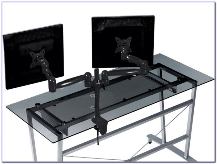 Triple Monitor Desk Mount Bracket