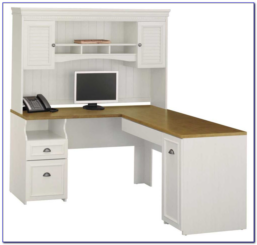 White Corner Desk Hutch