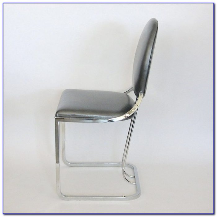 White Leather Office Chair Armless