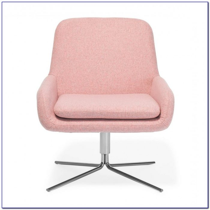 White Wooden Swivel Office Chair