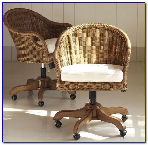 Rattan Desk Chair Swivel Desk Home Design Ideas