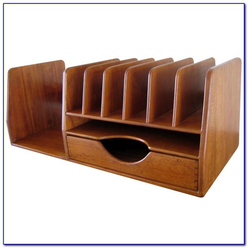 Wood Desk Top Organizers