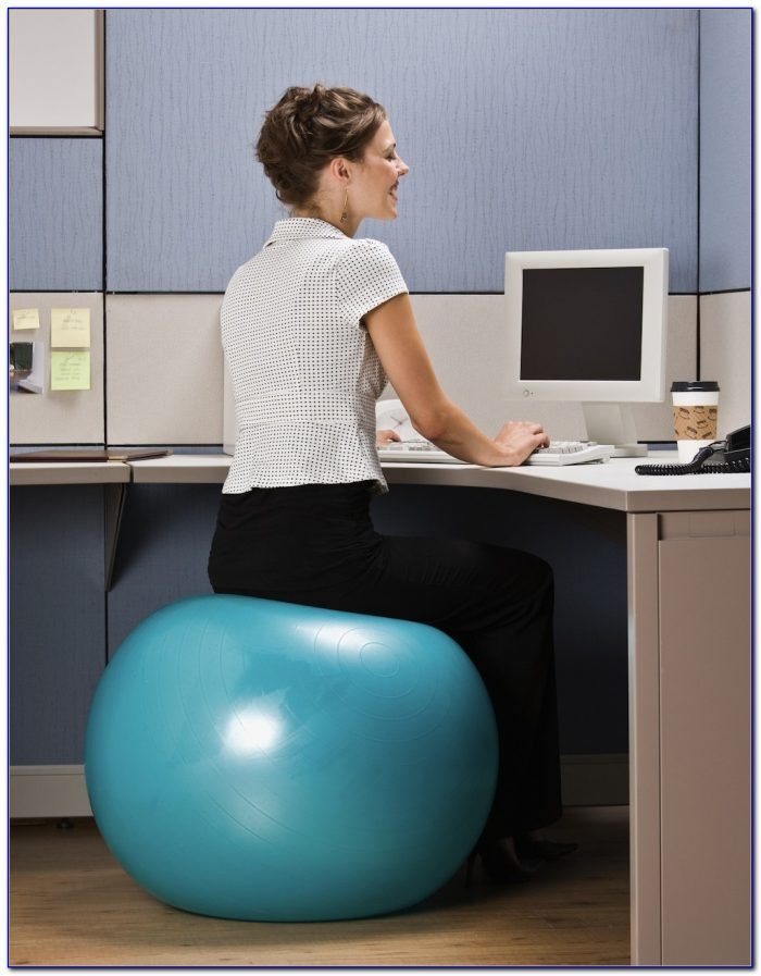Yoga Ball At Desk