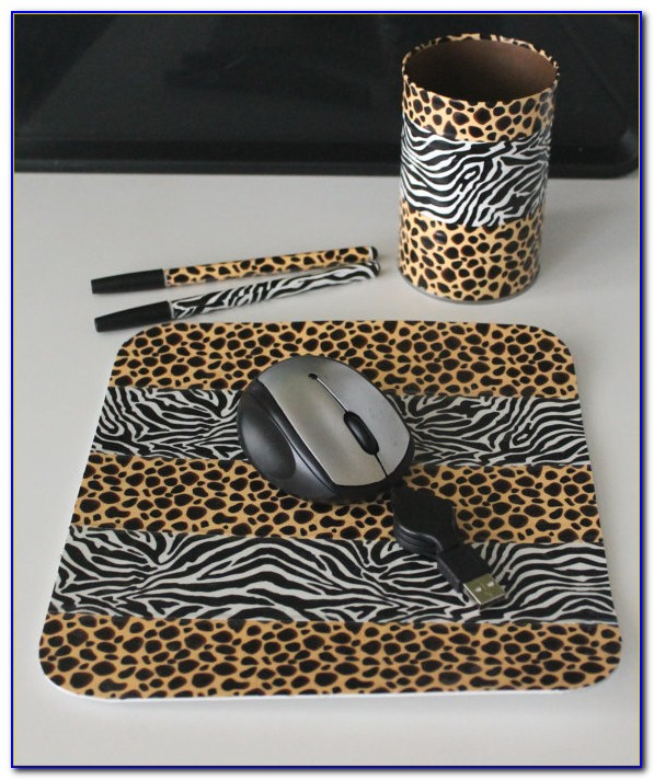Zebra Print Office Accessories Desk Home Design Ideas