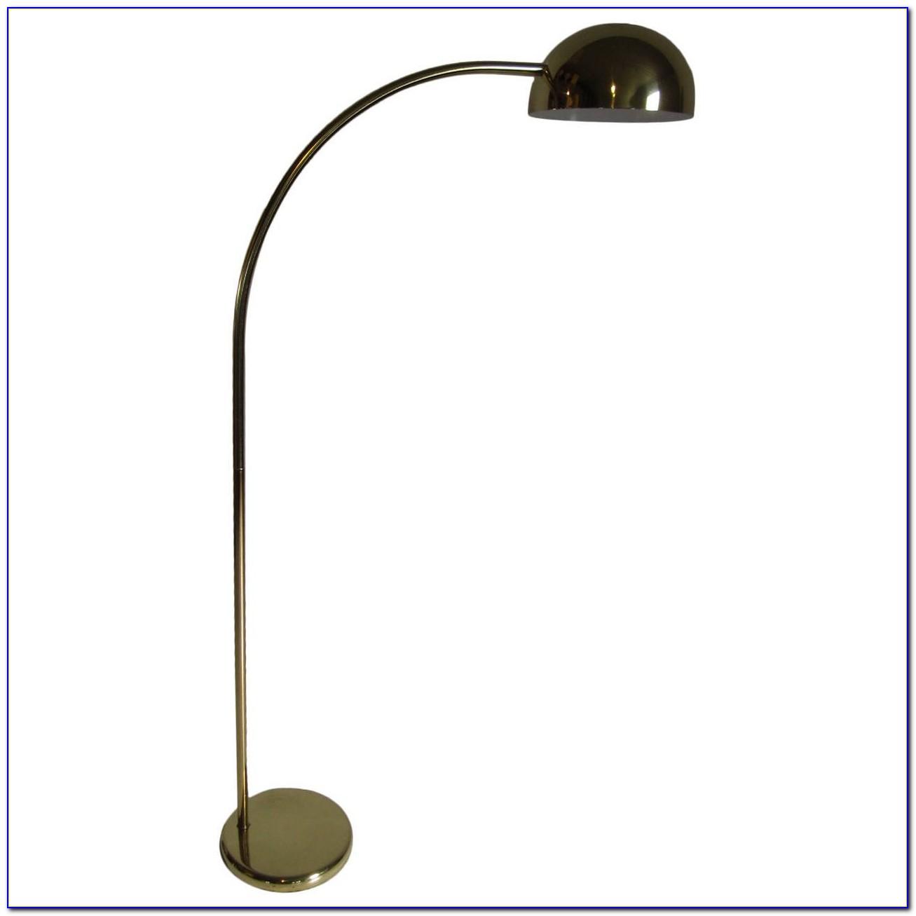 3 Globe Arc Floor Lamp Brass
