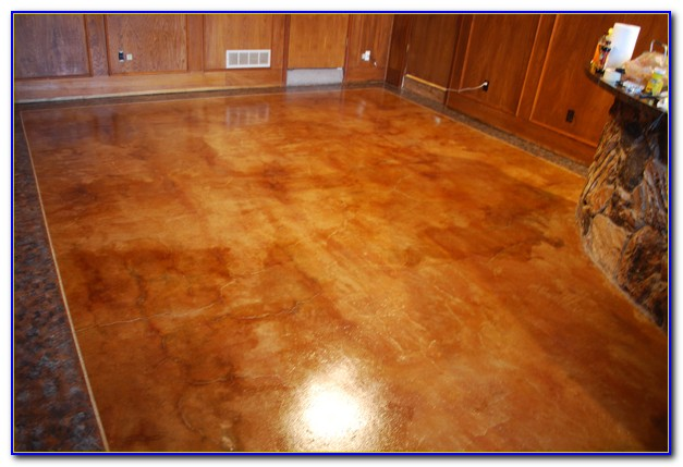 Acid Stain Concrete Floors Stamped Patios