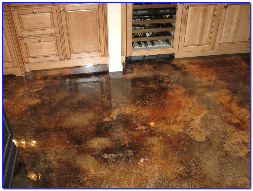 Acid Stain Concrete Floors Yourself