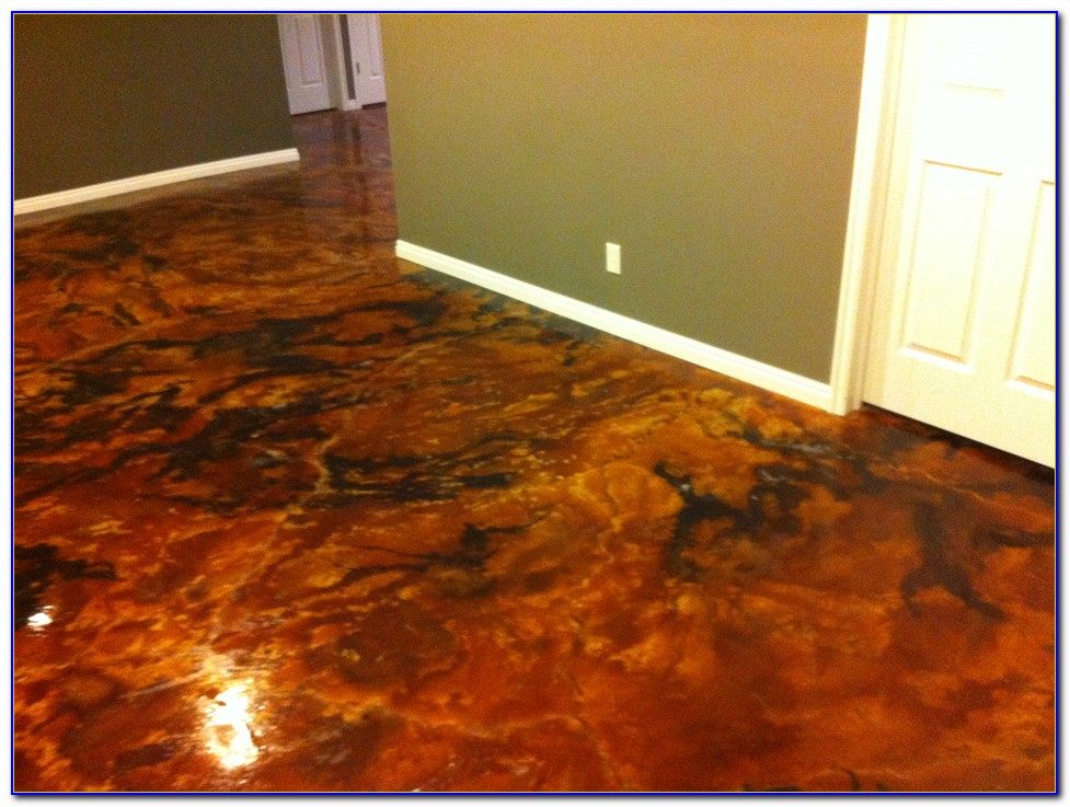 Acid Stain Concrete Floors Youtube