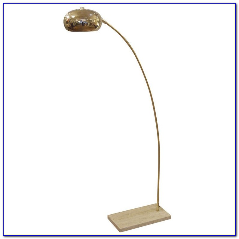 Arc Floor Lamp With Brass Shade