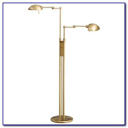 Brass Adjustable Pharmacy Floor Lamp