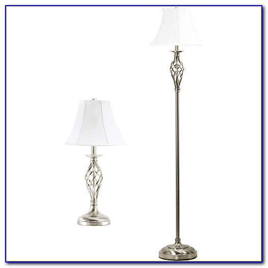 Brushed Nickel Floor Lamp With Paper Shade