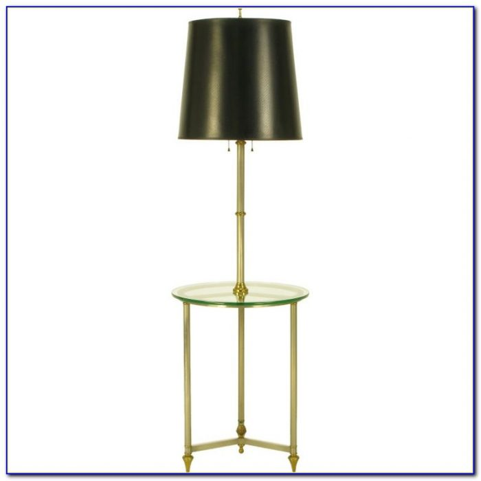 Brushed Nickel Floor Lamp With Shelves