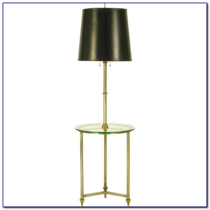 Brushed Nickel Floor Lamp With Shelves