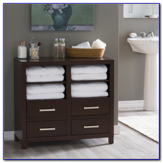 Corner Bathroom Storage Floor Cabinet