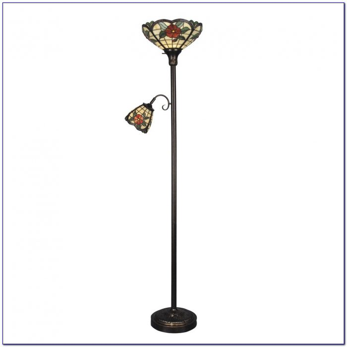 Dale tiffany desk lamp desk home design ideas for Tiffany style floor lamp with side light