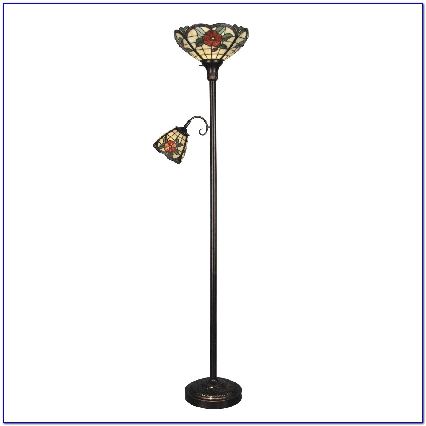 Dale Tiffany Floor Lamp With Side Light