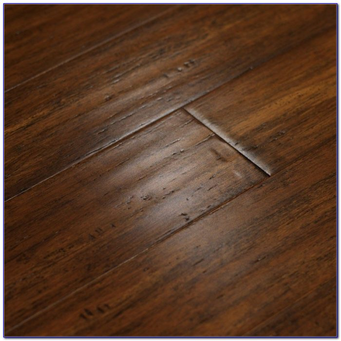 Dark Hand Scraped Bamboo Flooring