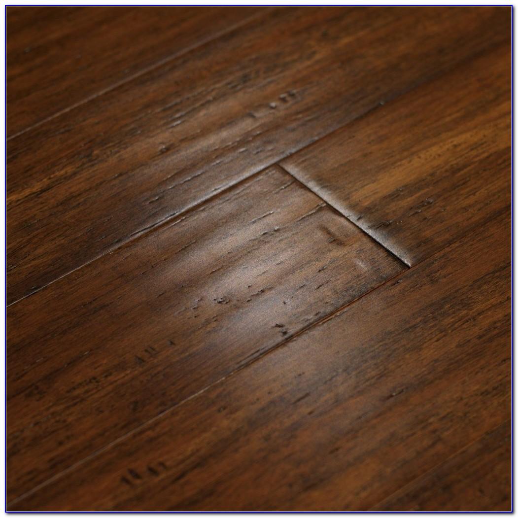 Dark Hand Scraped Bamboo Flooring