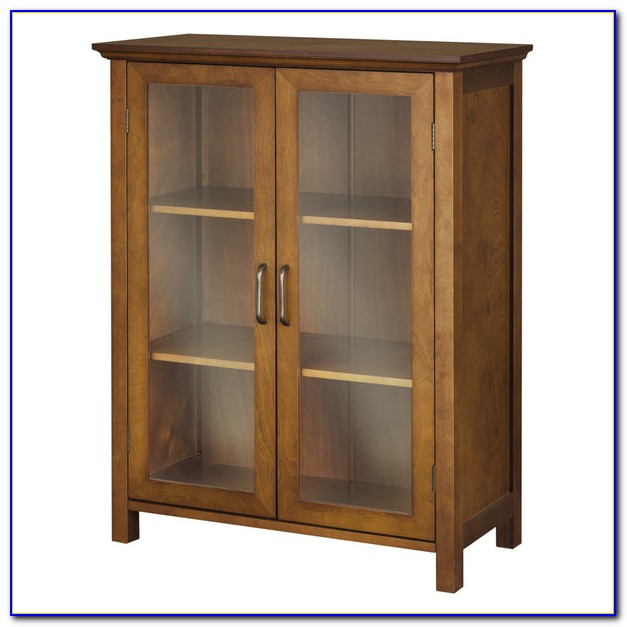 Floor Cabinet With Frosted Glass Doors