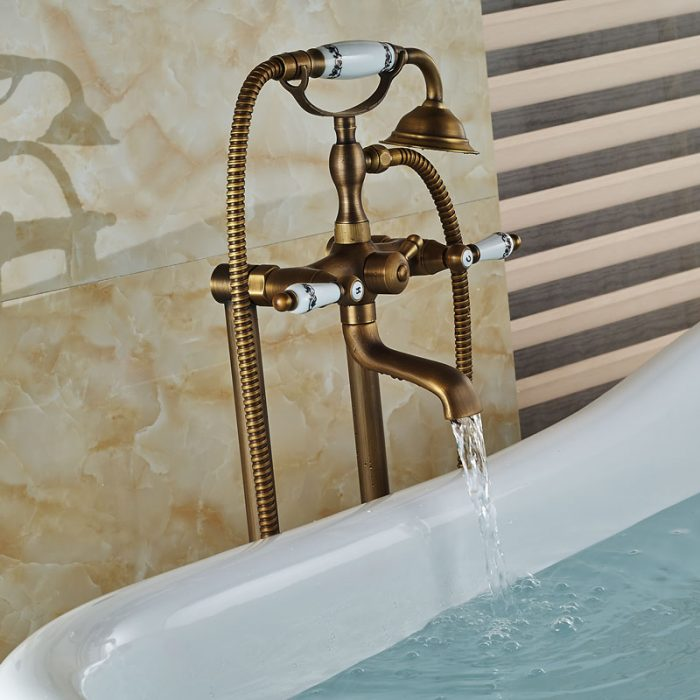 Floor Mount Tub Filler Delta