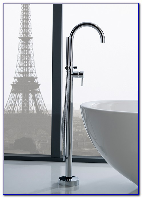 Floor Mounted Tub Filler Brushed Nickel