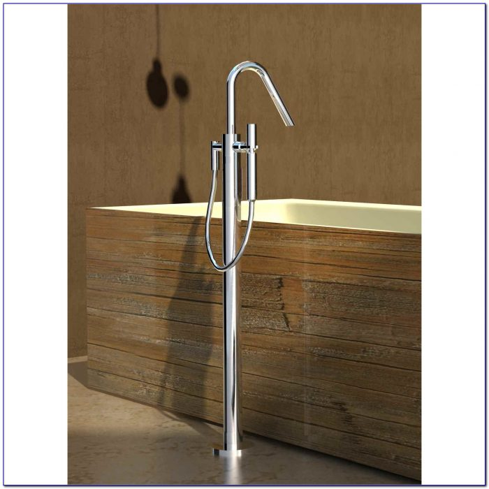 Floor Mounted Tub Filler Polished Nickel