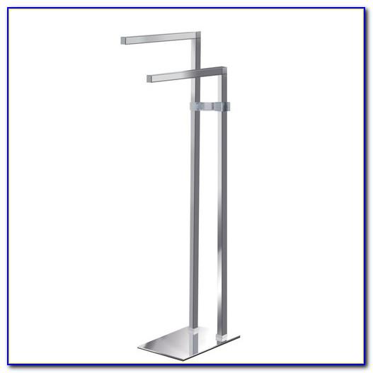 Floor Standing Towel Rack Brushed Nickel
