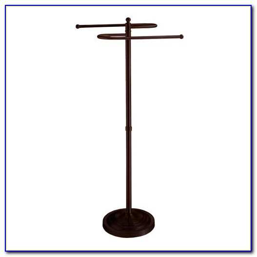 Floor Standing Towel Rack Oil Rubbed Bronze