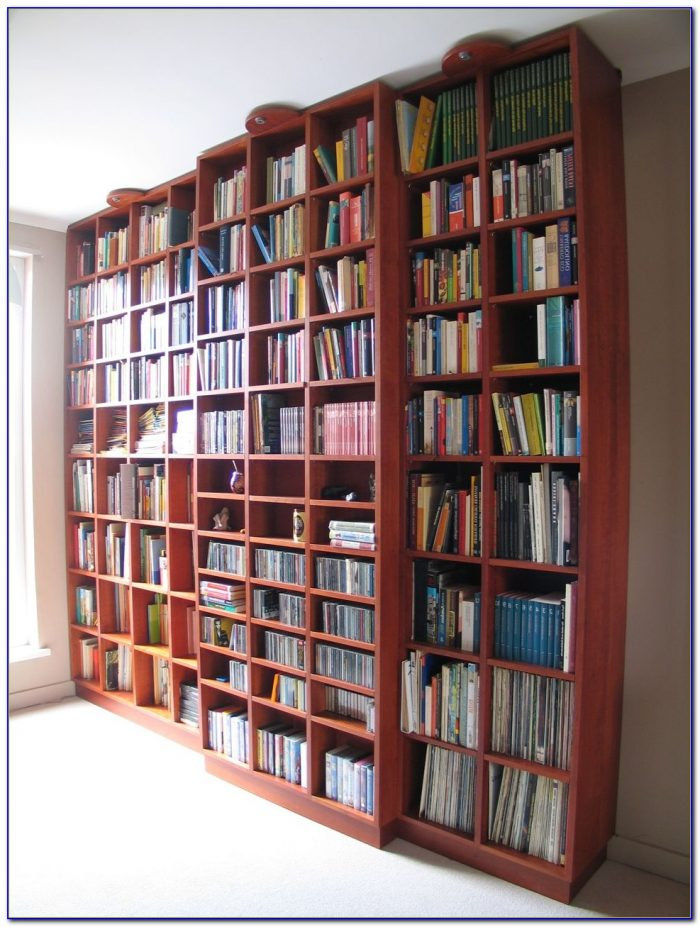 Floor To Ceiling Bookshelves With Desk