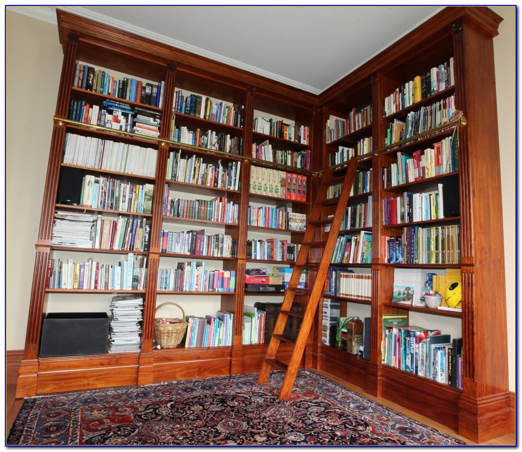 Floor To Ceiling Bookshelves With Fireplace