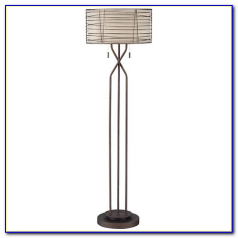Franklin Iron Works Tremont Floor Lamp With Burlap Shade