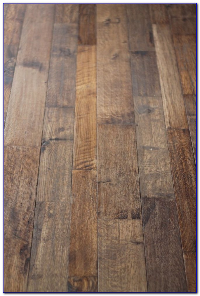 Hand Scraped Wood Floors Diy