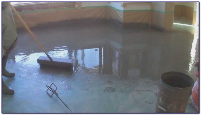 Self Leveling Thinset : Leveling a concrete floor with mortar flooring home