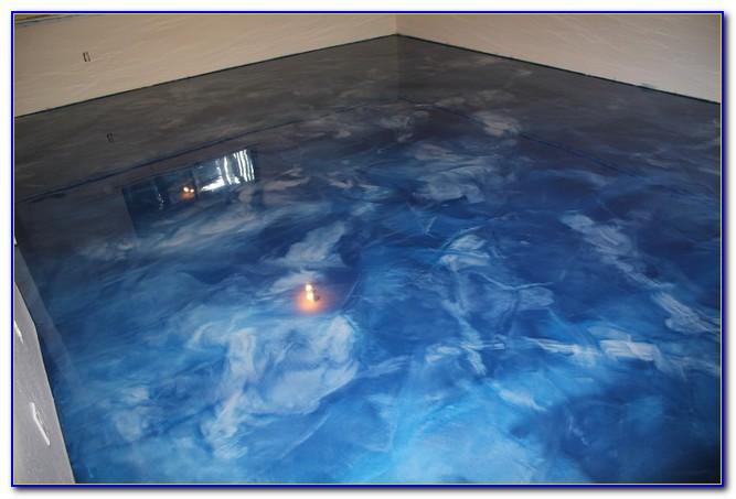 Metallic Epoxy Basement Floor Diy