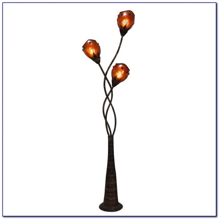 Multi Head Floor Lamp Black