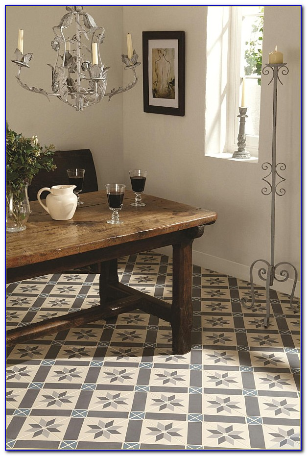 Patterned Ceramic Floor Tile