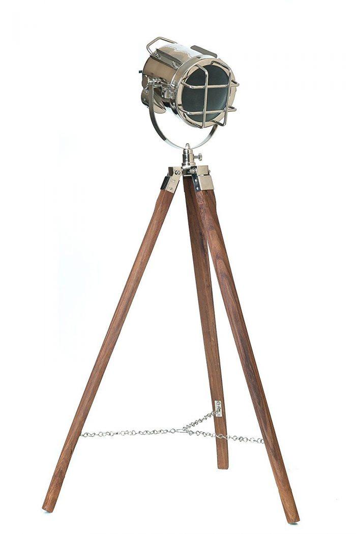 Photographers tripod floor lamp pottery barn flooring for Photographer s tripod floor lamp bronze finish