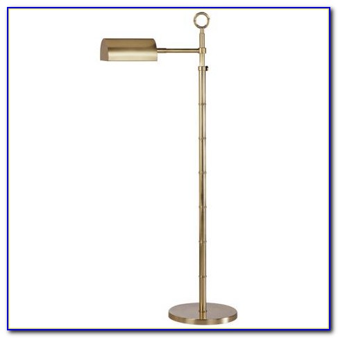 Polished Brass Pharmacy Floor Lamp